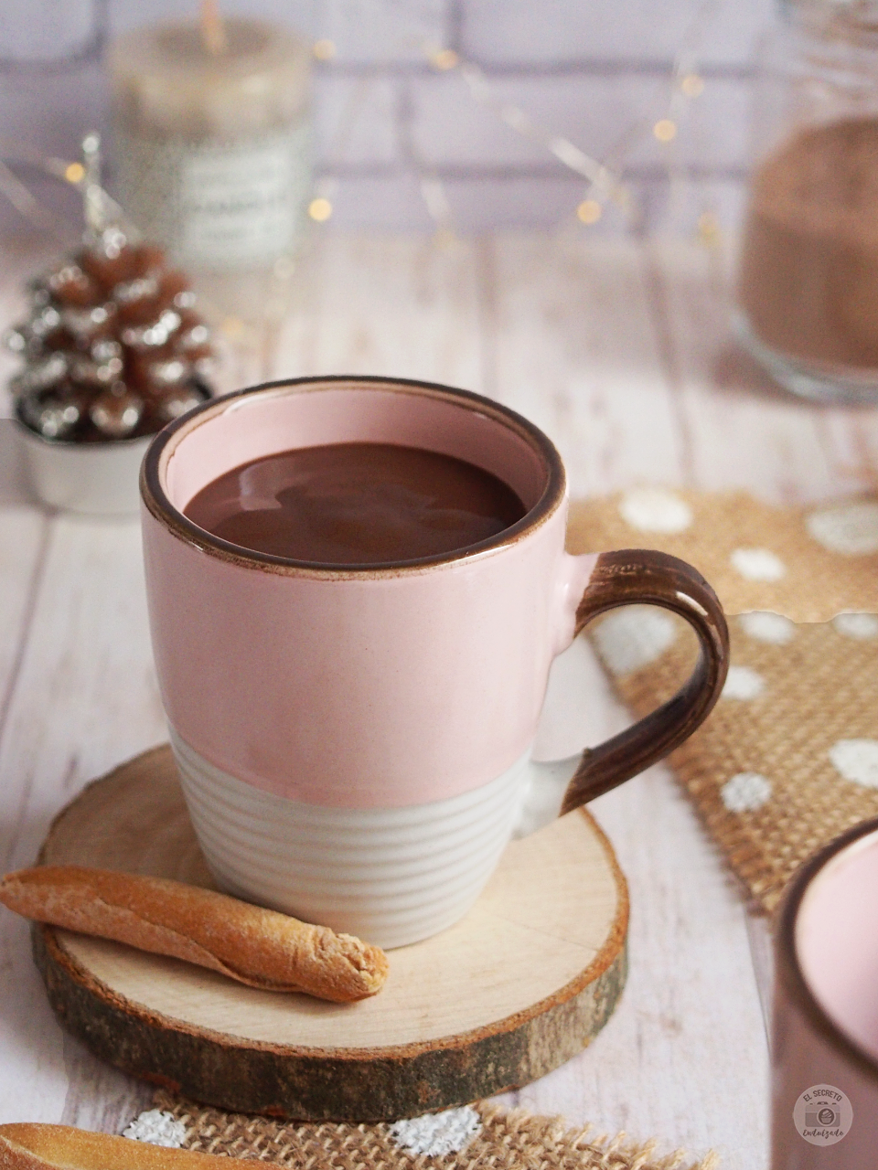 Chocolate caliente a la taza receta Hot Chocolate recipe