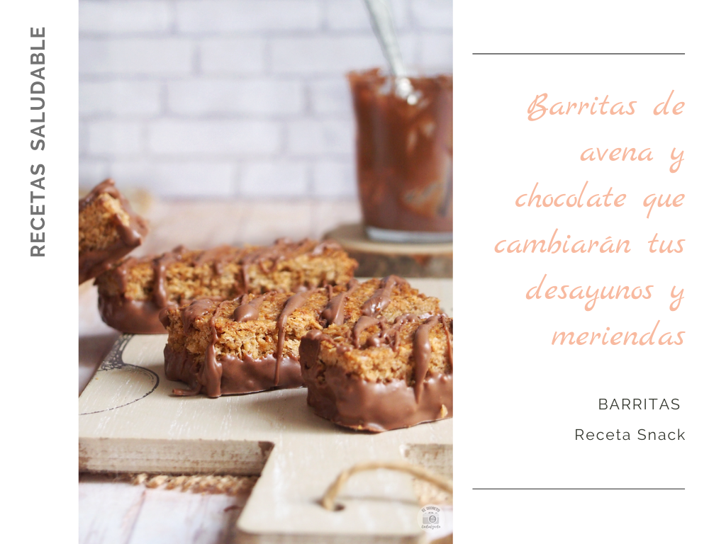 Barritas de avena & chocolate healthy bars oatmeal