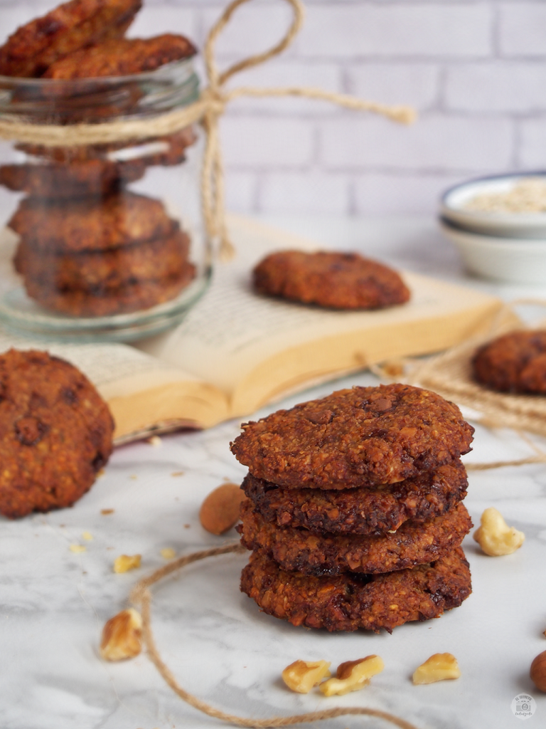 Cookies Fitness - Platano & avena - receta galletas saludable - cookies healthy recipe