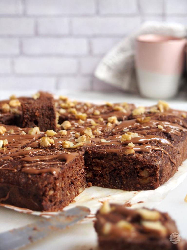 Brownie fitness, brownie saludable healthy