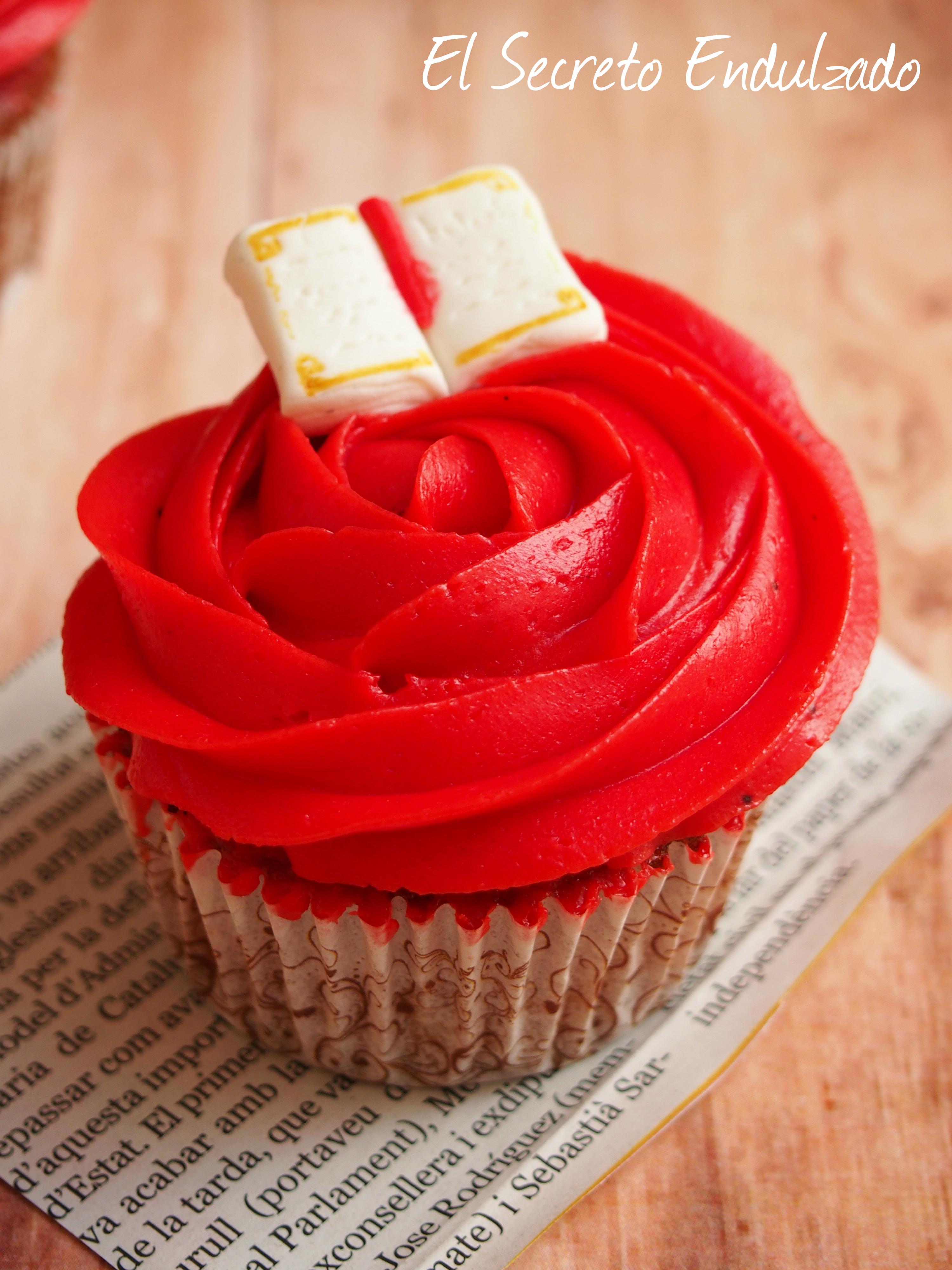 Cupcakes vainilla y fresa receta sant jordi