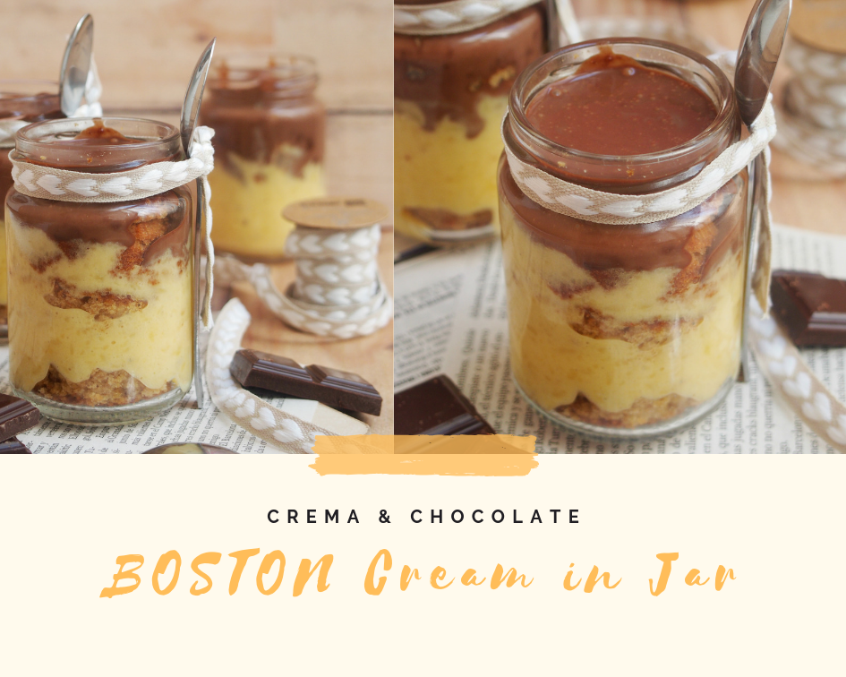 Boston Cream in Jar Receta Postre
