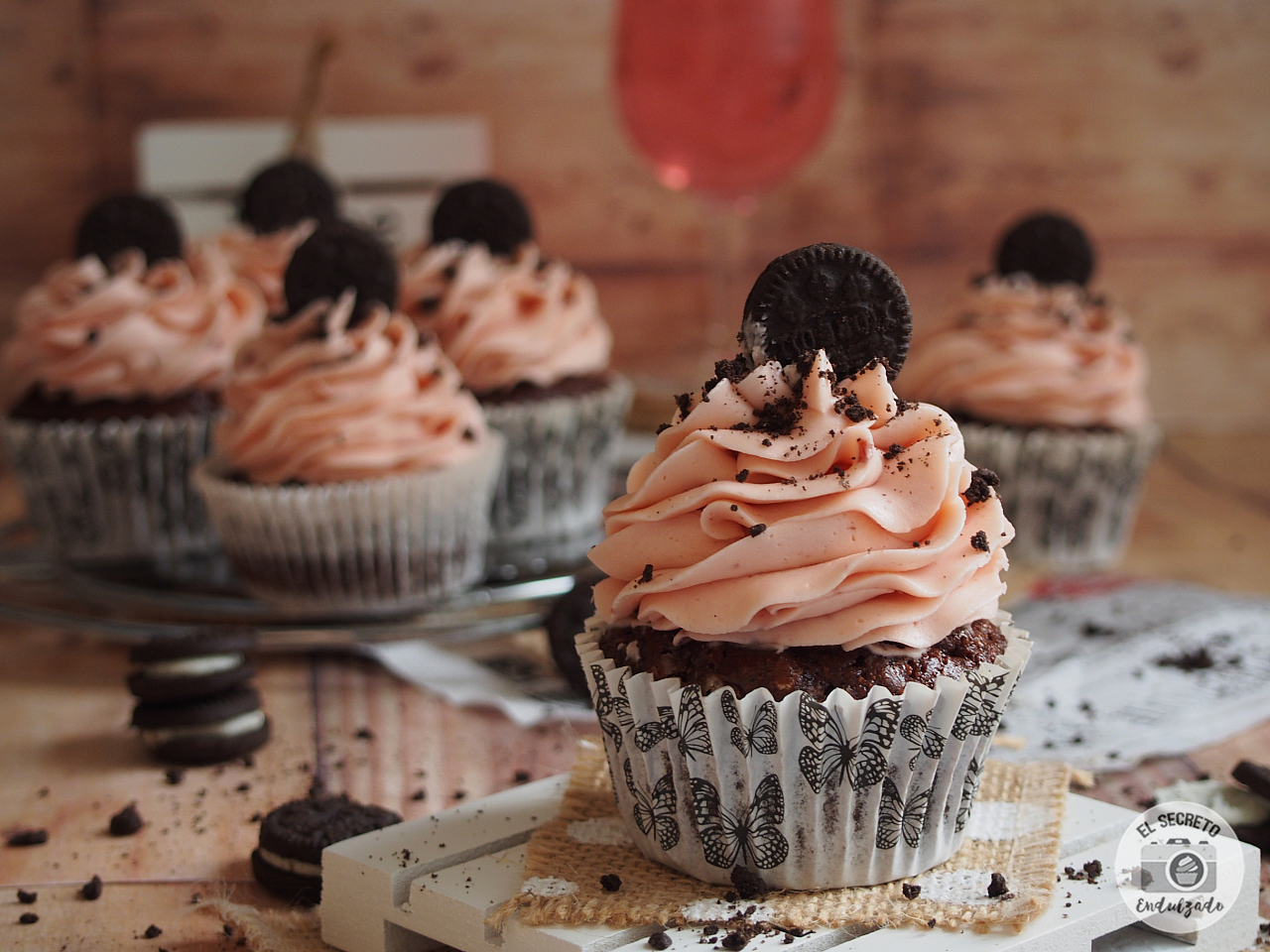 Cupcakes de Oreo & Chocolate receta recipe