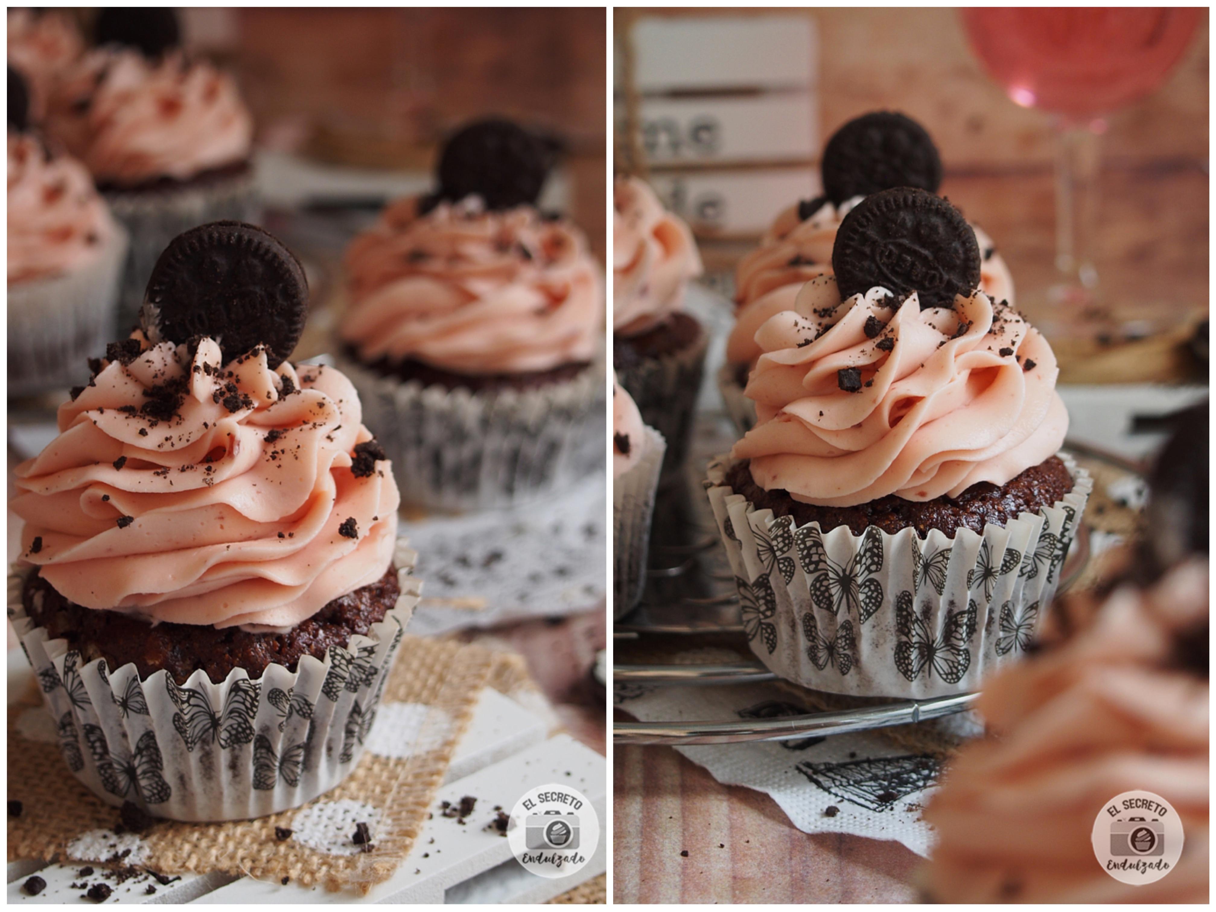 Cupcakes de Oreo con chocolate receta recipe