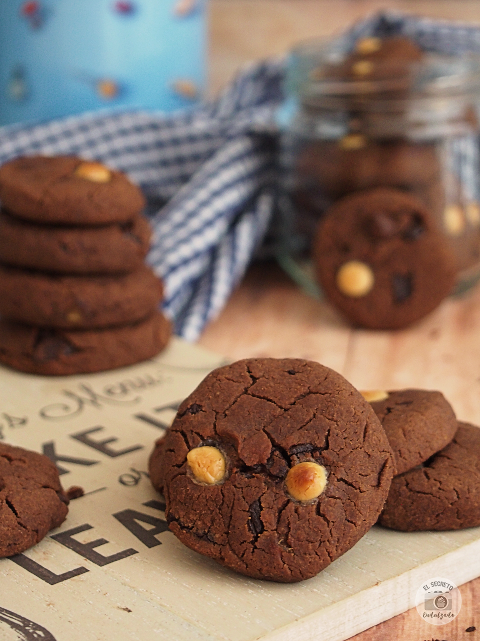 Cookies garbanzos chocolate receta recipe
