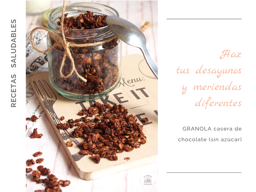 Granola casera de chocolate