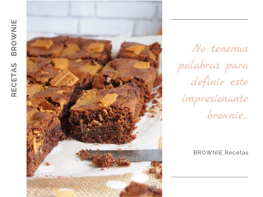 BROWNIE de chocolate & speculoos receta recipe