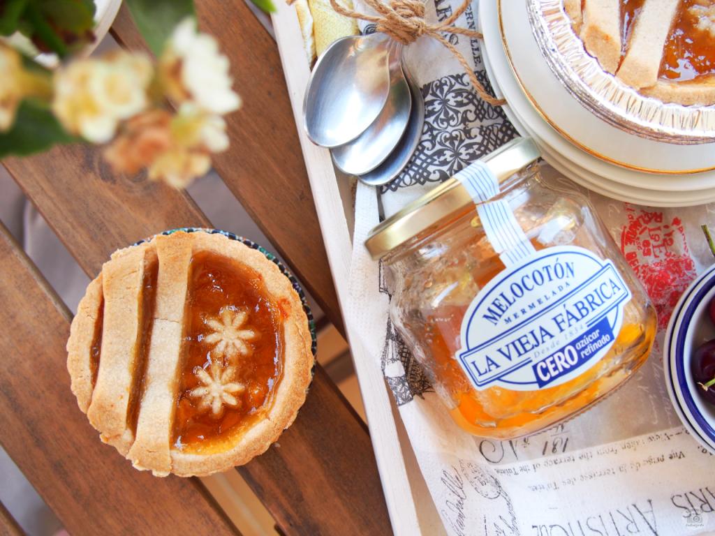 Receta Mini tartaletas Melocotón saludables - Mini healthy peach tarts recipe