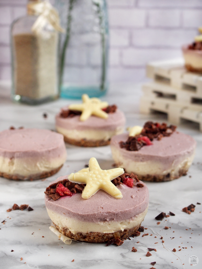 Receta mini cheesecake saludables sin horno - mini cheesecake healthy no bake