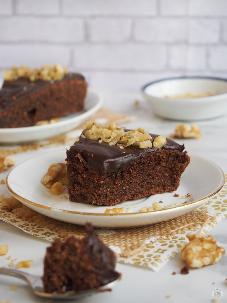 Receta bizcocho chocolate saludable - chocolate cake healthy