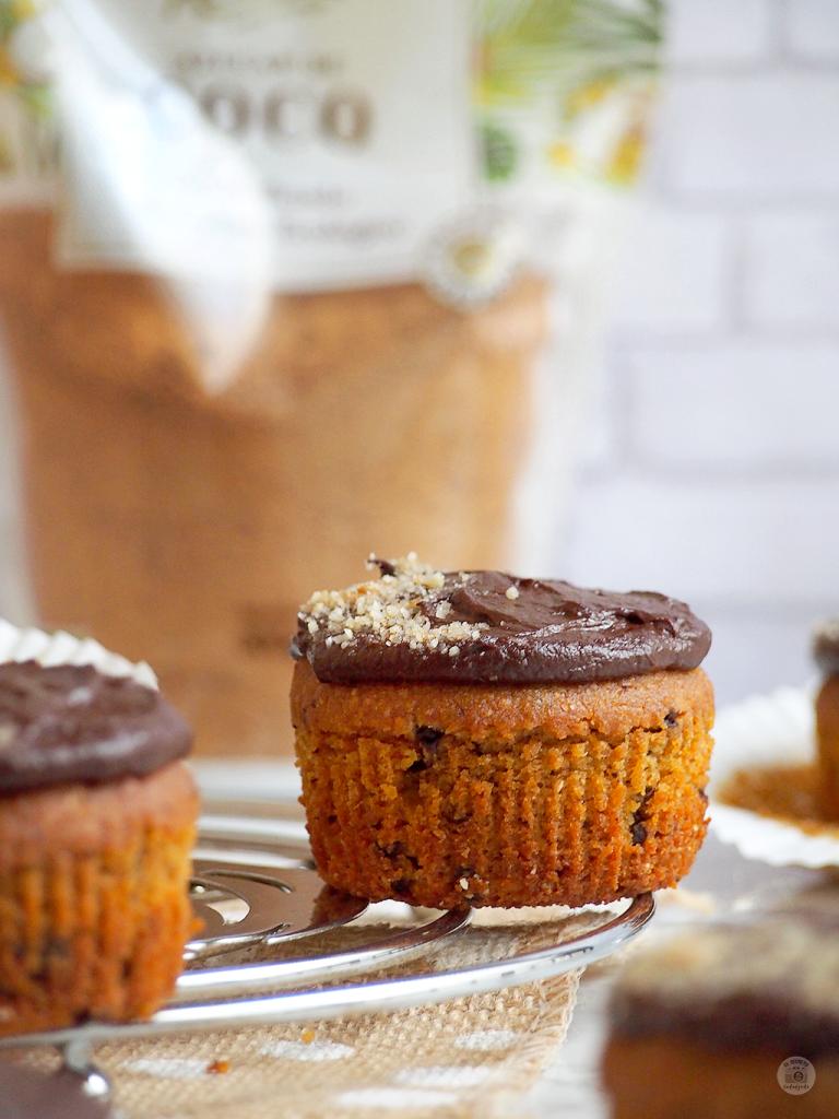 Cupcakes SALUDABLES Calabaza & Chocolate - HEALTHY Pumkpin & Chocolate Cupcakes