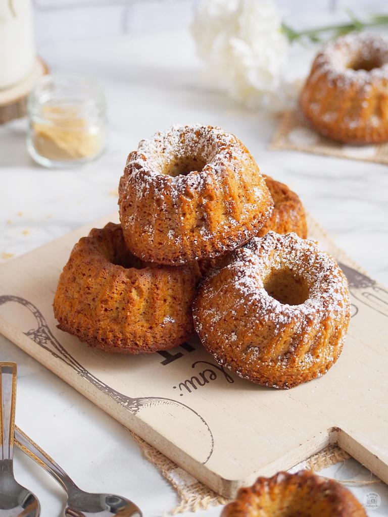 BUNDTS jengibre vainilla saludables - Healthy BUNDTS Gingerbread & vainilla