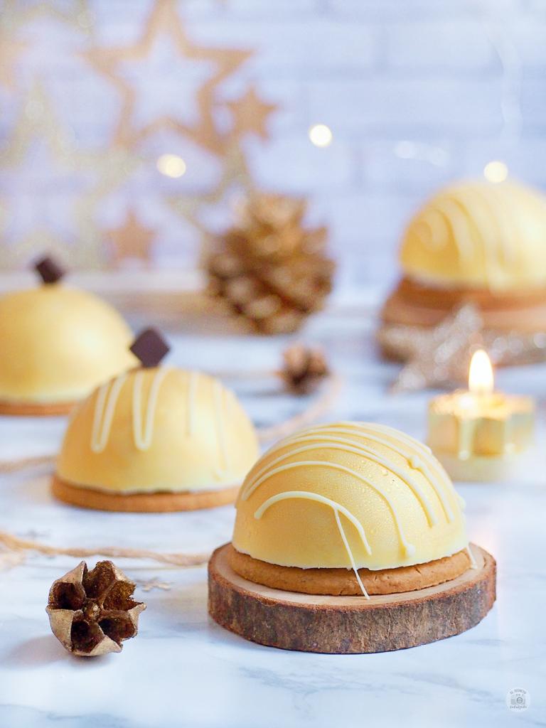 Semiesferas GOLDEN - Mousse Limón & chocolate - Domes citron
