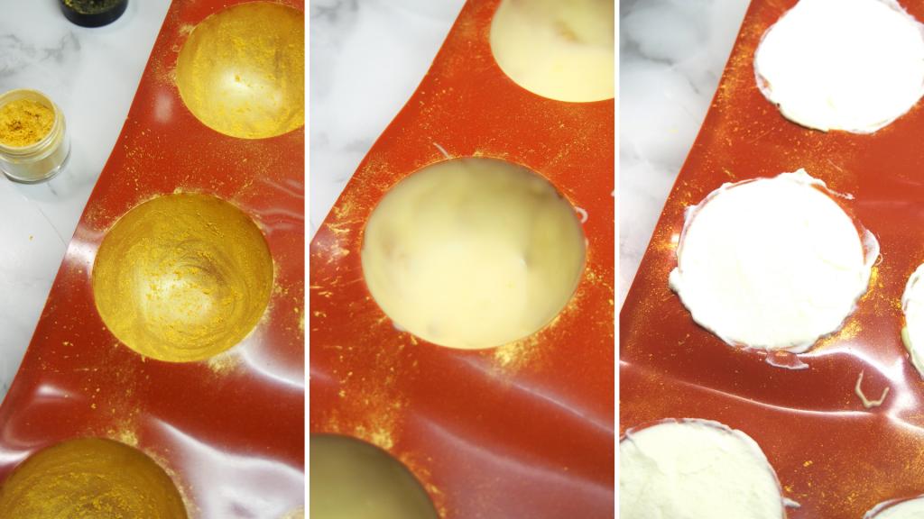 Esferas GOLDEN - Mousse Limón & chocolate