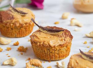 Healthy Cupcakes Vainilla & cashew - Cupcakes Saludables Vainilla Anacardo