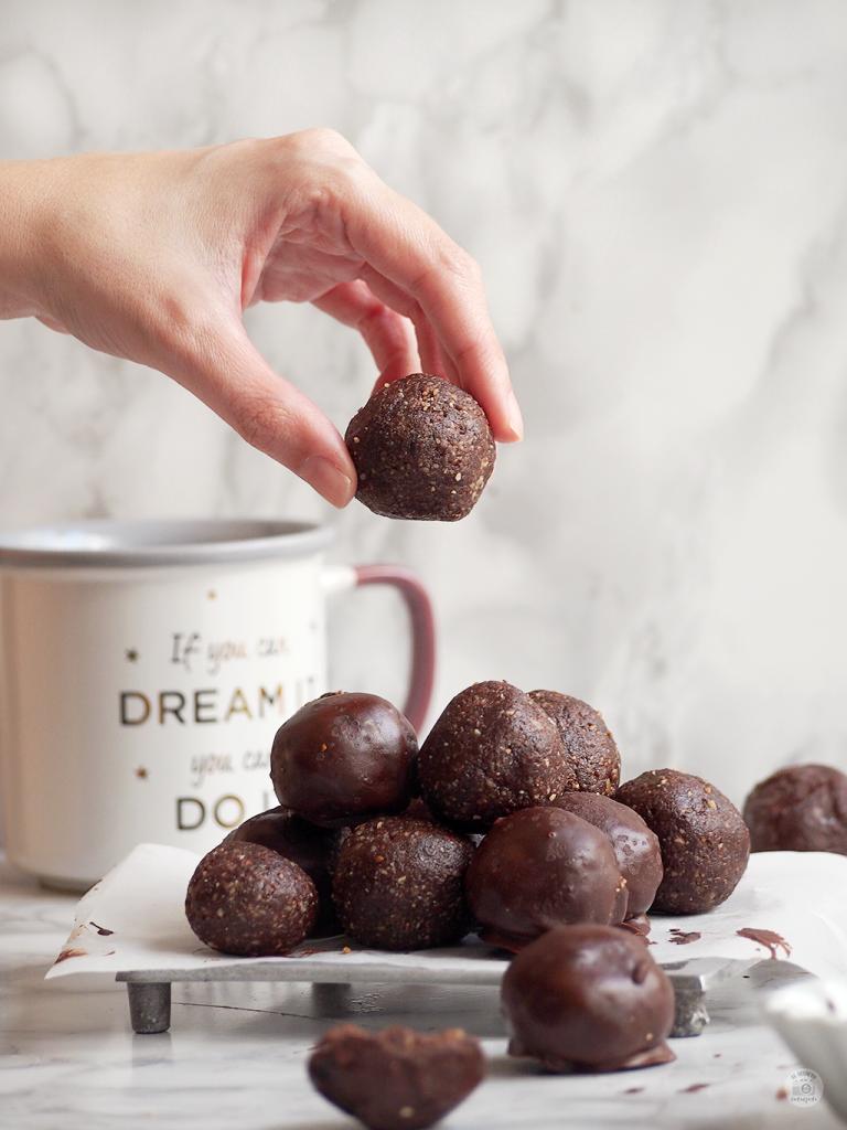 Energy balls chocolate bites bolitas energéticas