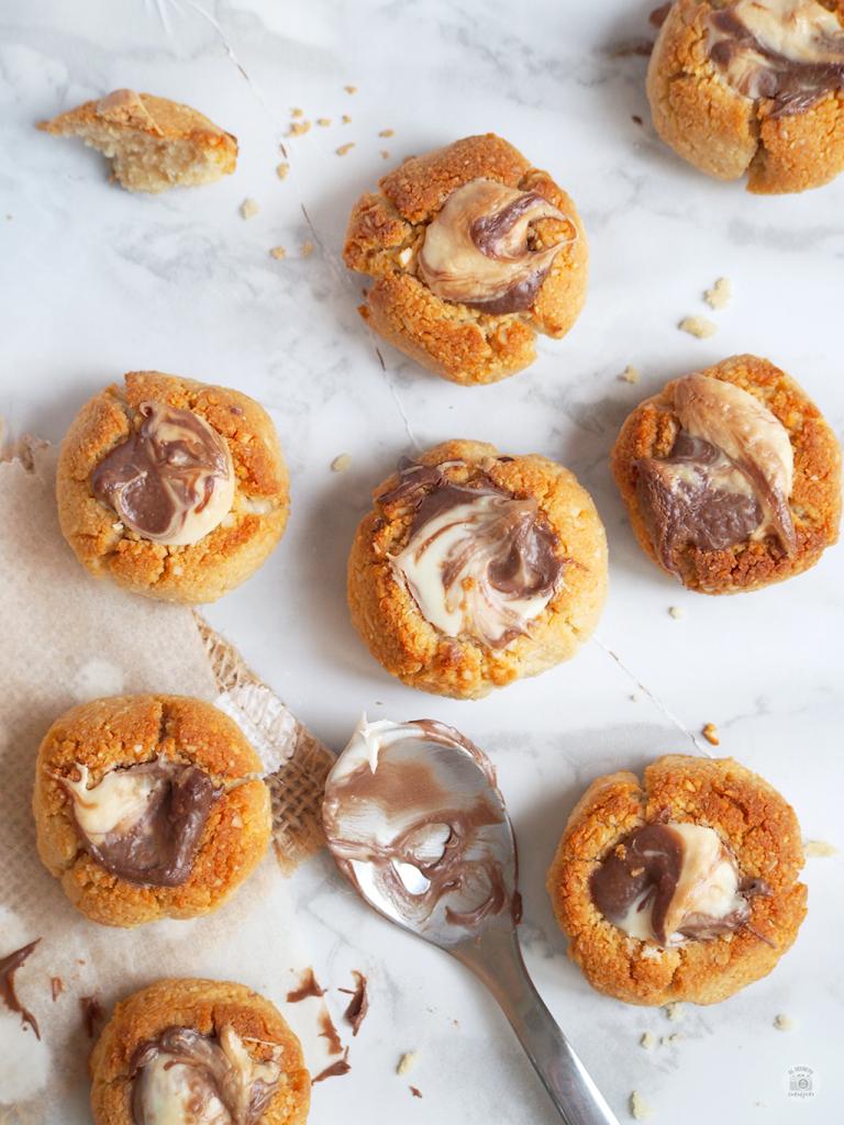 Thumbprint cookies healthy - Galletas huella digital saludables