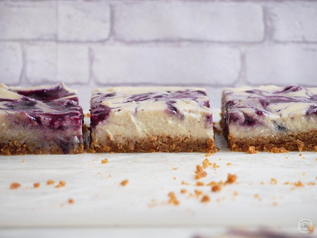 HEALTHY Cheesecake no bake lemon and bluberry jam